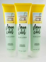 (3) Bath & Body Works Aqua Cool Aloe Lotion Endless Weekend 5.6oz - $30.07