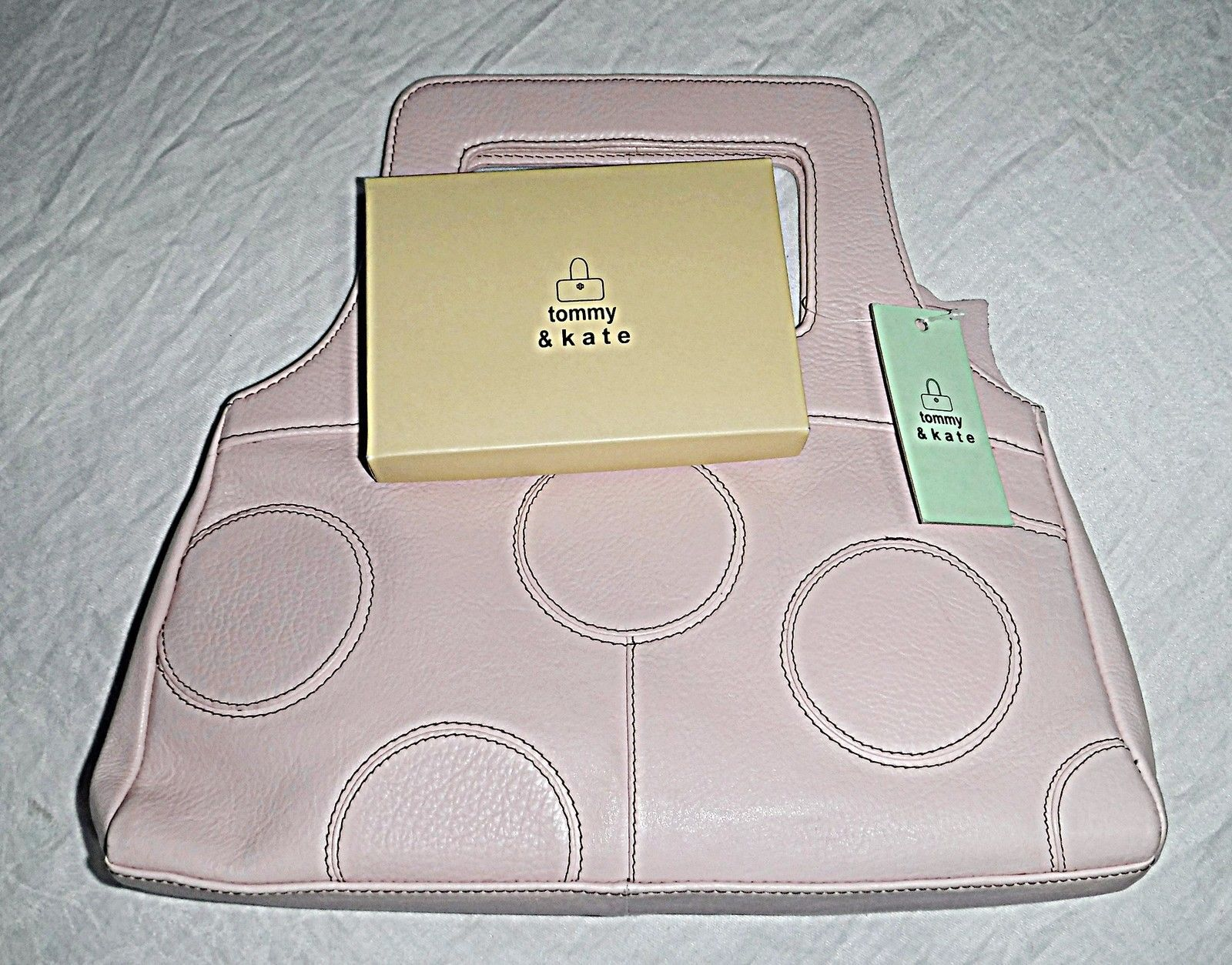 39c58fe96de 'TOMMY & KATE' ICED PINK LEATHER HANDBAG WITH MATCHING BOXED PURSE IN DUST  BAG. '