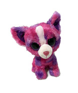 "Ty Beanie Boos Dakota Chihuahua Dog Bean Bag Plush 6"" Pink Glitter Eyes Justice - $16.83"