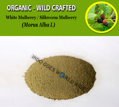 POWDER White Mulberry Silkworm Mulberry Morus Alba Organic Wild Crafted Herbs - $7.85+