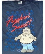 Family Guy Tee Shirt Black Freakin Sweet Size M 100% Cotton - $14.53
