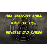 Hex Breaking Spell, Reverse your bad luck and bad karma, haunted magic s... - $33.37