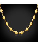 Necklaces Heart 18K Real Gold Plated / stainless Steel GN348 - $21.99+