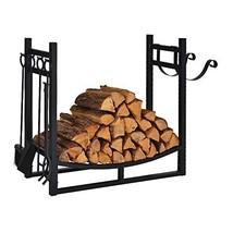 Firewood Rack Indoor Outdoor w/ 4 Tools, 3ft Log Rack Fire Wood Holders ... - $96.62