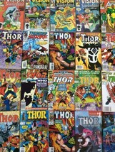 Lot of 20 Avengers Marvel Comics Vision & the Scarlet Witch THOR Nick Fury - $11.28