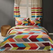 5-pc California King ROWAN Quilt, Shams and Window Panels Set - VHC Brands