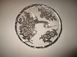 """25th Anniversary Clear SIlver Serving Plate 7 1/2"""" - $9.99"""
