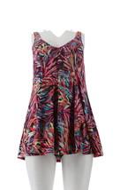 Fit 4 U V-Neck Swing Swim Dress Multi 20W NEW A305896 - $48.49