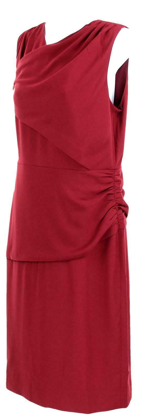 J Crew Women's High Neck Sheath Dress Everyday Lucky Crepe Wear to Work 8 J7452 image 3