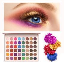 Charm Beauty Glazed 48 colors Eyeshadow Pallete Bling Gold Eye Makeup Shimmer Ma - $30.75