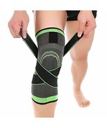 2x TWO DCF Knee Compression Sleeve Adjustable Strap Green Large Medium S... - $14.40