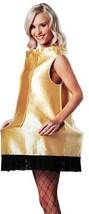 Christmas Story Costume Leg Lamp Women Adult Gold Dress One Size GC4332 - $49.99