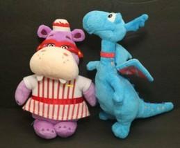 Disney Doc McStuffins 2 Plush Lot Stuffy the Blue Dragon & Hallie Hippo ... - $11.83