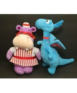 Disney Doc McStuffins 2 Plush Lot Stuffy the Blue Dragon & Hallie Hippo ... - $11.83