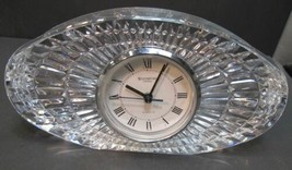 Signed Waterford crystal large oval clock - $153.25