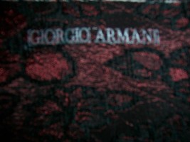 4yds DESIGNER GIORGIO ARMANI GLOWING BURGUNDY & BLACK FLORAL MATELASSE F... - $165.00