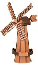 """41"""" POLY WINDMILL Cedar & Brown Working Dutch Garden Weathervane Amish M... - $413.41 CAD"""
