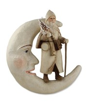 "Bethany Lowe Designs Christmas ""Santa On Moon Hanging Ivory"" TD2967 - $96.99"