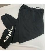 Champion Reverse Weave Sweatpants Joggers Men's Medium Spell Out Black S... - $39.99