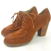 Kenneth Cole Reaction Full of Life Suede Leather Ankle Boot BROWN Bootie 8.5 M - $18.69