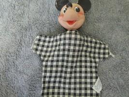 Vintage 1950's - 60's Walt Disney W.D.P. Gund  Mickey Mouse Hand Puppet - $6.88