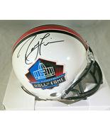 RAY LEWIS / NFL HALL OF FAME / AUTOGRAPHED HALL OF FAME LOGO MINI HELMET / COA - $98.95
