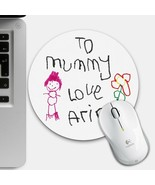 Kids Artwork Mouse Mat, Personalised Drawing Mouse Pad Childs Grandparen... - $10.24