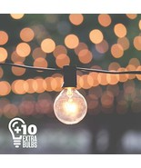 50ft Black String Lights, 60 G40 Globe Bulbs 10 Extra, Connectable, Wate... - $45.32