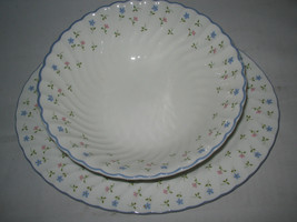 Johnson Brothers Melody Oval Platter  and Vegetable Bowl 2 pc Lot - $15.83