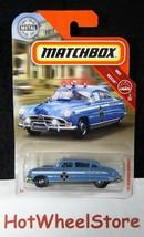 2019  Matchbox  Blue  '51 HUDSON HORNET Police Car  Rescue Card #57  MB15-031819 - $2.95