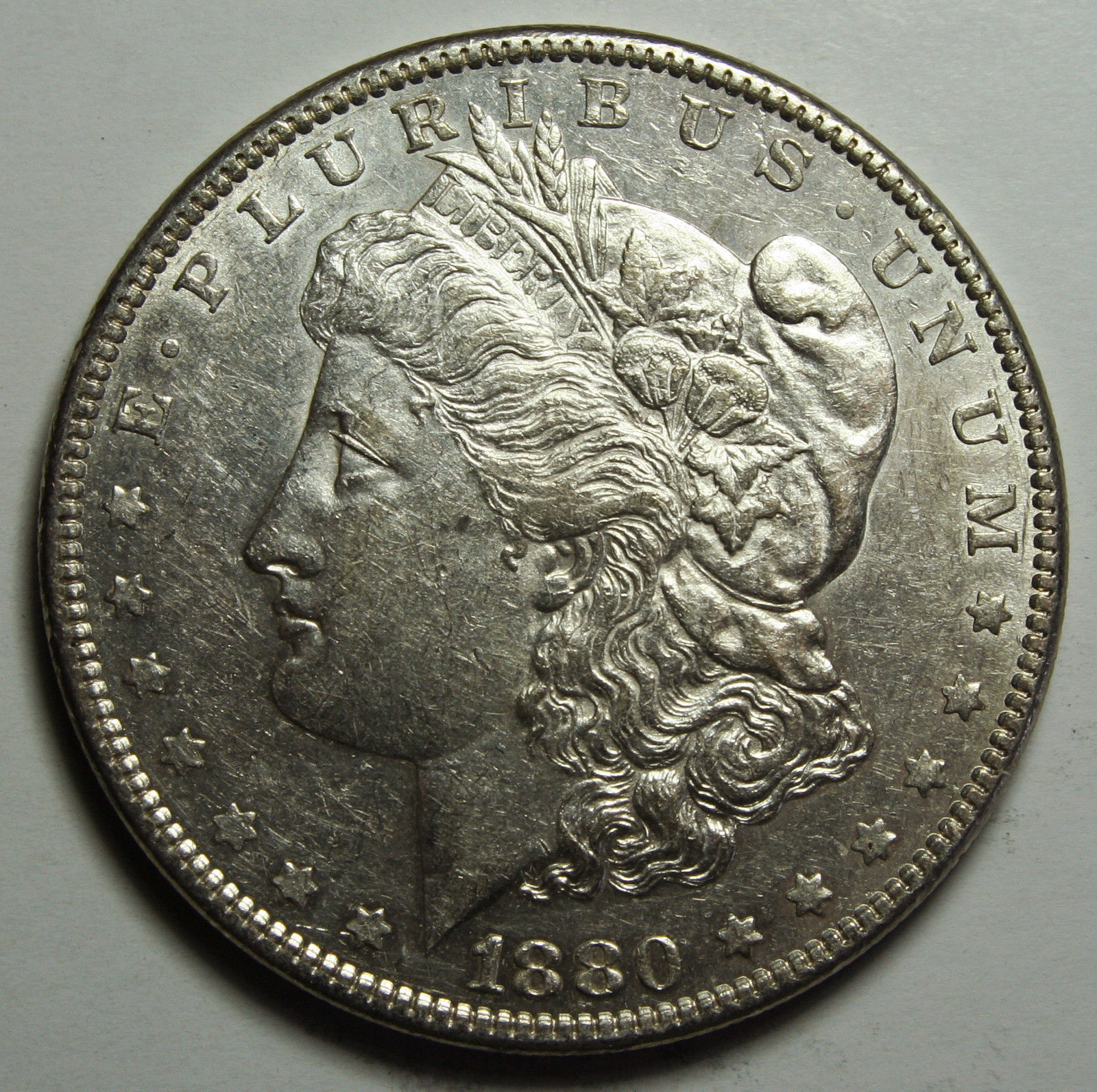 1880 MORGAN SILVER DOLLAR COIN Lot# D 8