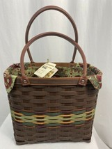 Longaberger Autumn RoadsTote, Limited w/ Liner & Protector, 2013, Hostes... - $161.49