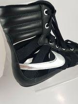 NIKE WOMEN'S SANDALS GLADIATEUR II Leather BLACK/METALLIC SILVER 429881 003 image 5