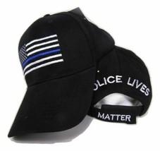 TBL Hat USA Police Memorial Thin Blue Line Police Lives Matter Black Cap - $21.77