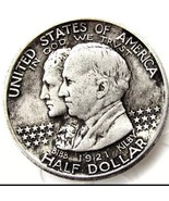 1921 State of Alabama Centennial Half Dollar Casted Coin Bibb & Kilby - $11.99