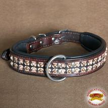 Hilason Heavy Duty Genuine Leather Dog Collar Dark Brown U-C105 - $23.79
