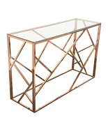 Diamond Furniture NESTCSRG Nest Rectangular Console Table with Clear Tem... - $699.00