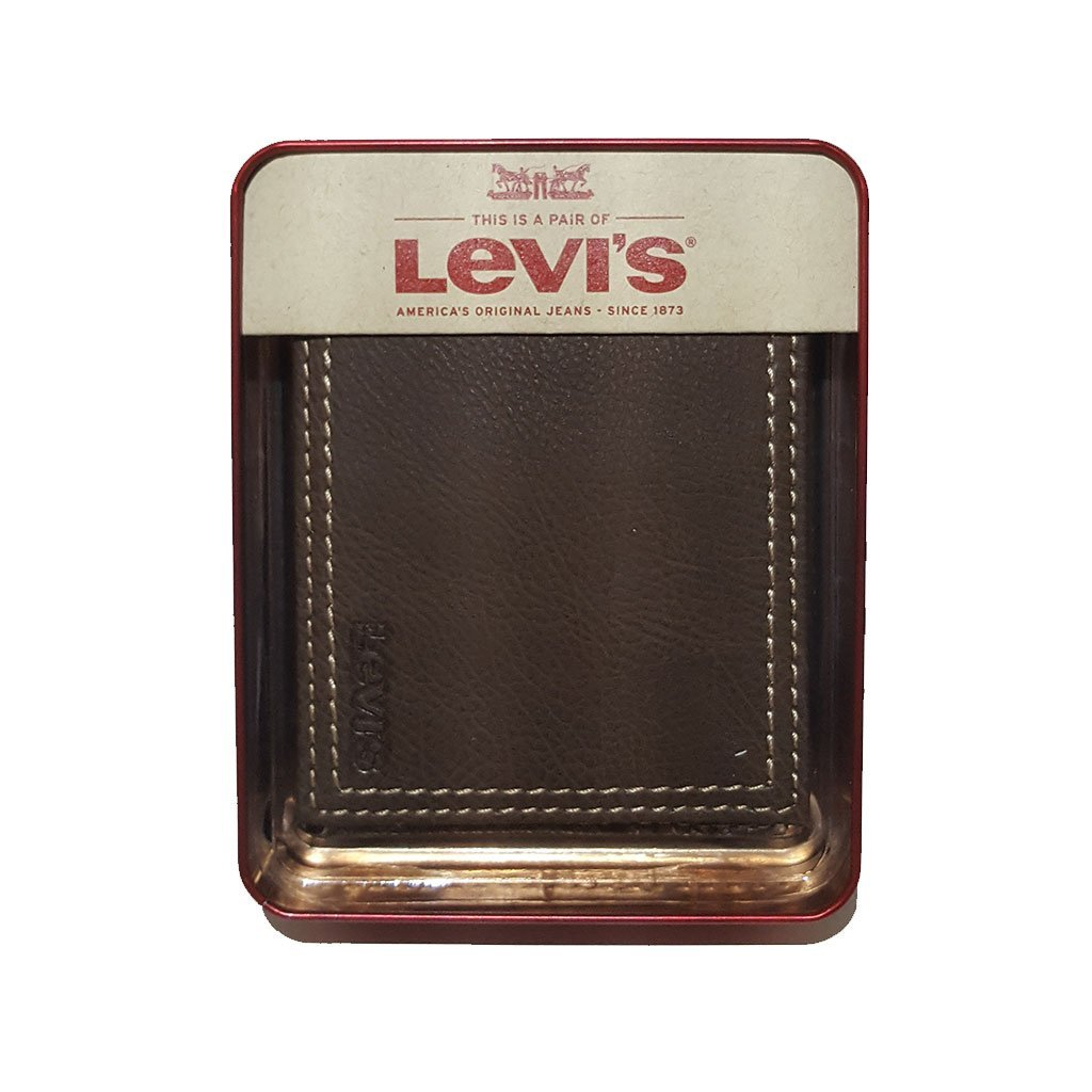 Levi's® 31LV1344 men's extra capacity slimfold wallet brown one size image 5