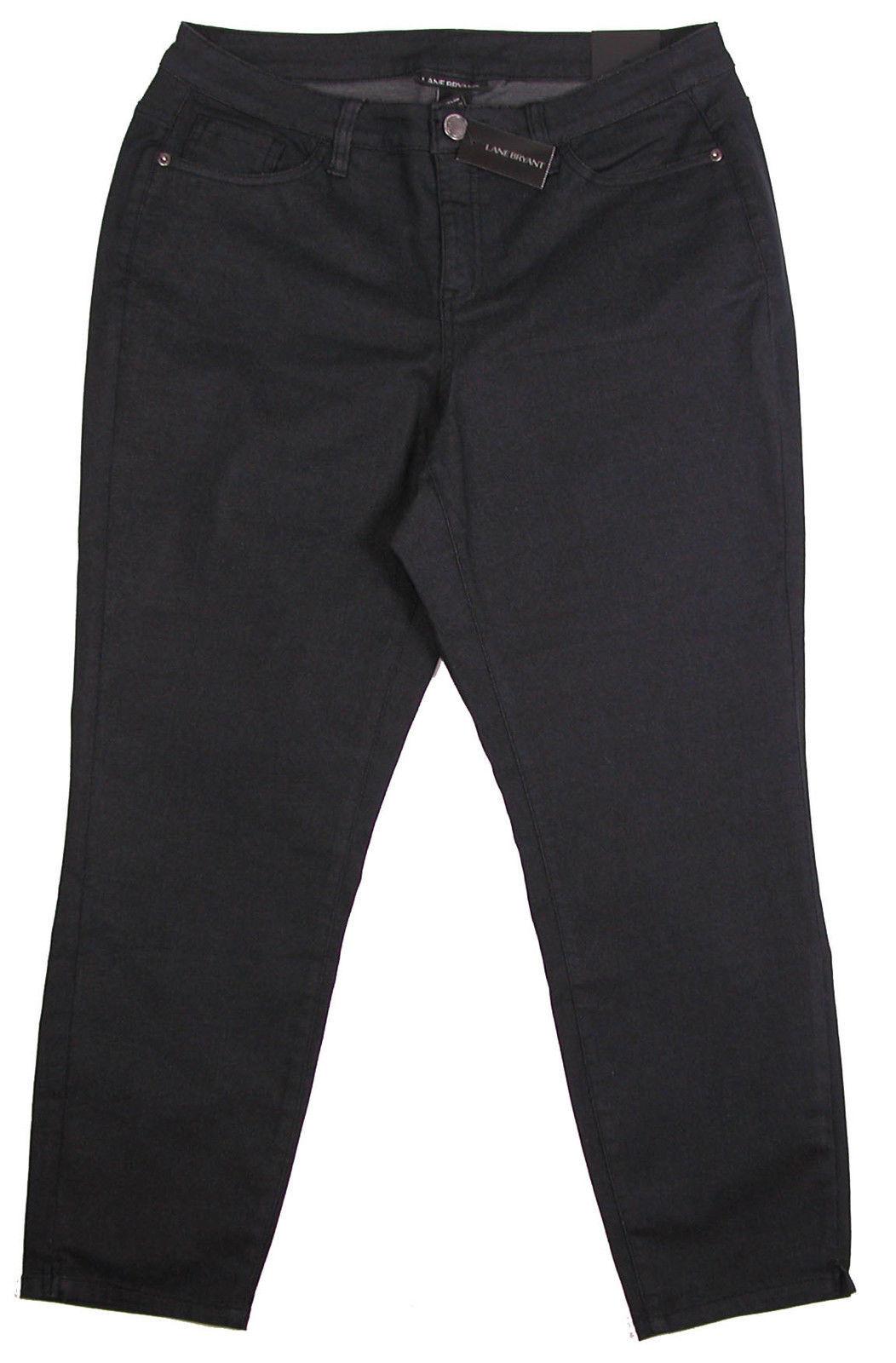 bd0a6fb42fd Lane Bryant Womens Capri Jeans 18 Skinny Stretch Cropped Black Denim Plus  New -  34.00