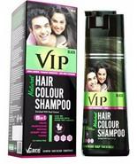 VIP 5 in 1 Hair Colour Shampoo base hair color (180 ml) Black color fs - $20.67