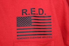 XXXL Pocket Polo RED Remember Everyone Deployed Friday Shirt American Flag 3XL - $24.99