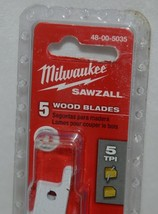 Milwaukee 48005035 Sawzall Five Wood Blades Nail Embedded Wood image 2