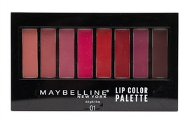 Maybelline  Lip Color Palette  01,   Eight Shades of Color from Nude to ... - $11.39