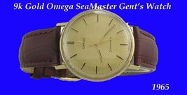 Mint 9k Gold Omega SeaMaster Retro Watch 1970 - $1,045.13