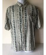 Summa Mens Shirt Button Up 1X 100% Silk Short Sleeve - $14.84
