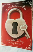 """Giant Valentine's Day Card Lock & Key 16""""x24"""" """"you hold the key to my he... - $2.99"""