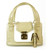 LOUIS VUITTON Beige & White Vernis small tote Shoulder bag Limited Editi... - $583.11
