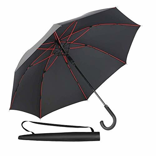 Newdora Stick Umbrella, Auto Open Windproof Umbrella with 51 Inch Large Canopy W