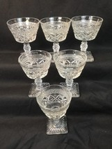 "Imperial Glass ""Cape Cod"" Pattern Sherbet Dishes Square Base Diamonds Se... - $24.74"