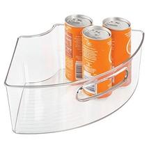 mDesign Kitchen Cabinet Lazy Susan Storage Organizer Bin with Front Hand... - $15.15